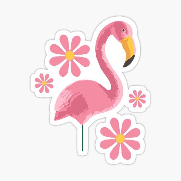 Pink Flamingo Party Sticker
