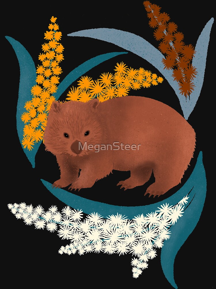 Wombat and Mimosa (aka waddle and wattle) by MeganSteer