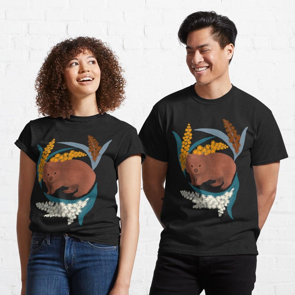 Wombat and Mimosa (aka waddle and wattle) Classic T-Shirt