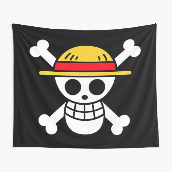 Une pièce - Drapeau des pirates au chapeau de paille Tentures