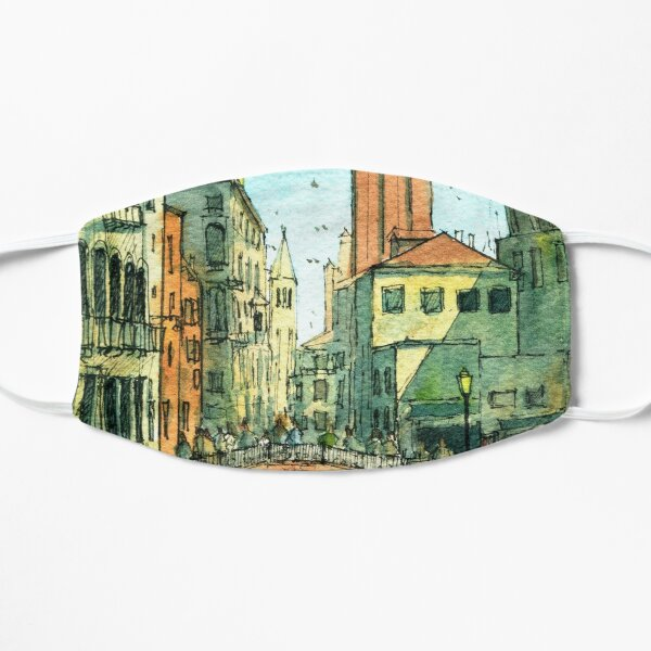 Campo San Barnaba Canal scene Flat Mask