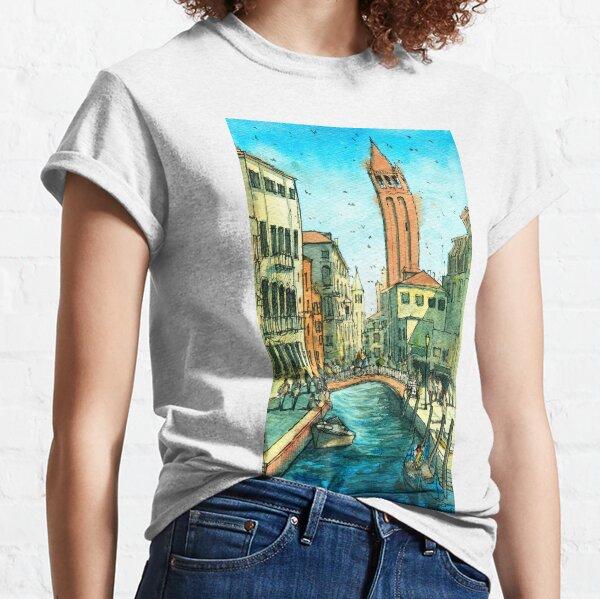 Campo San Barnaba Canal scene Classic T-Shirt
