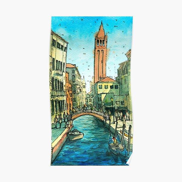 Campo San Barnaba Canal scene Poster