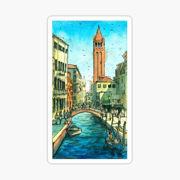 Campo San Barnaba Canal scene Sticker