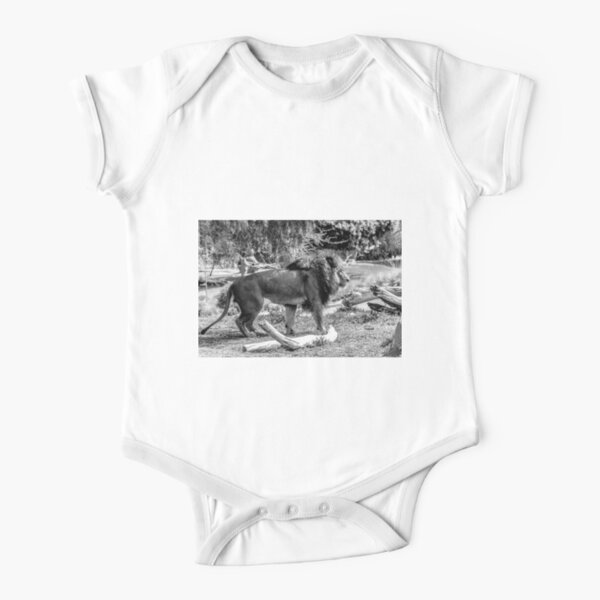 Lion Short Sleeve Baby One-Piece