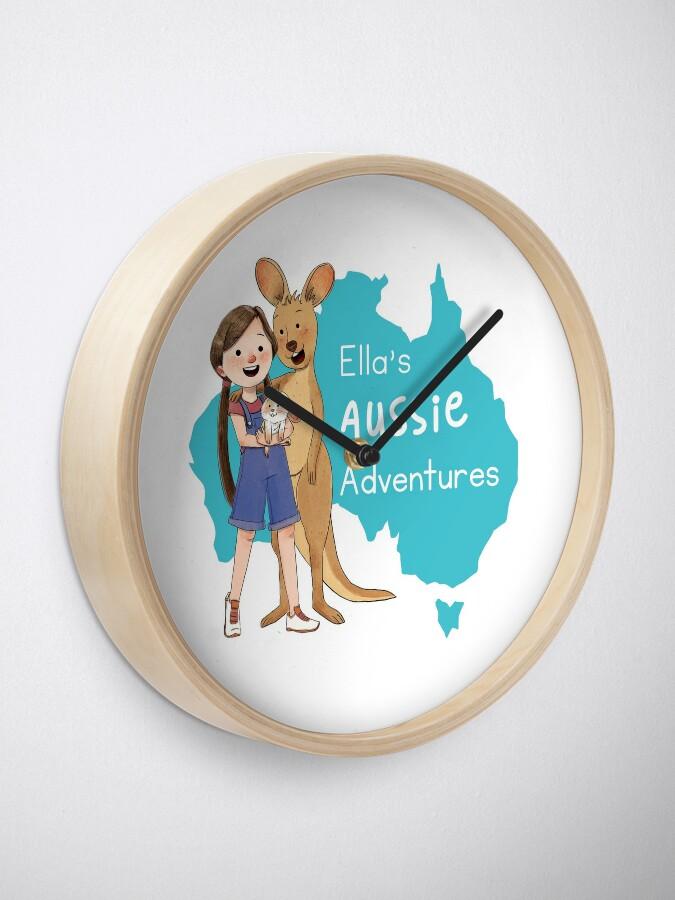 Alternate view of Ella's Aussie Adventures Clock