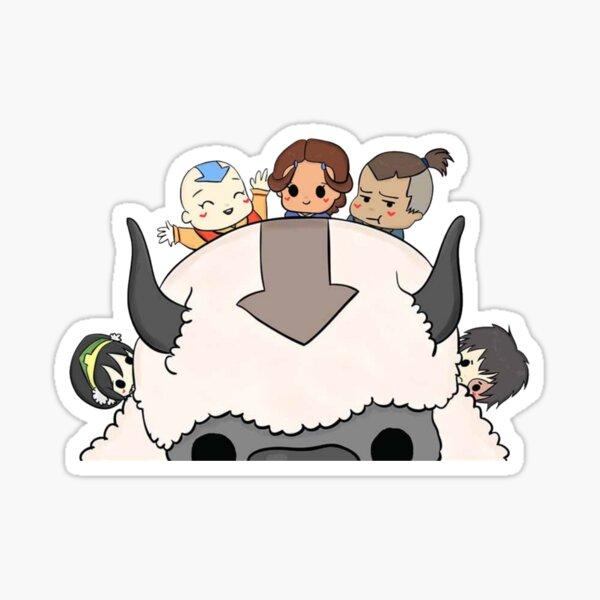 Cute Team Avatar (The Last Airbender) Peeker Sticker