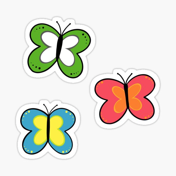 papillons powerpuff v2 Sticker