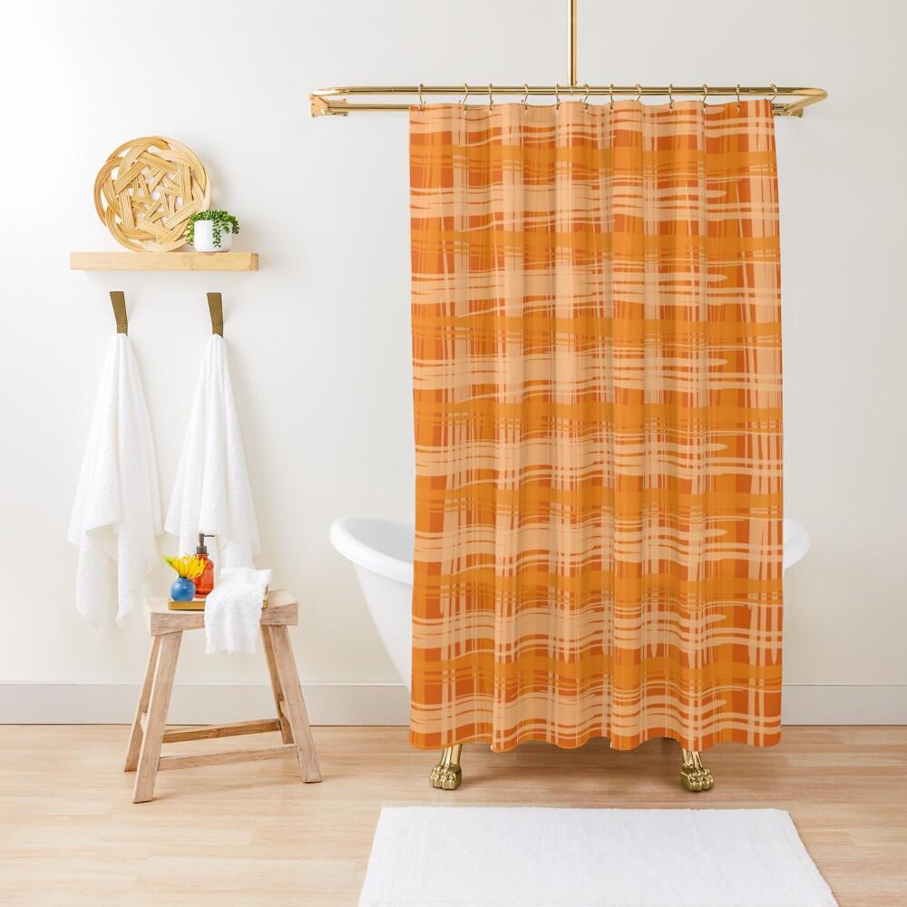 Fire Plaid Shower Curtain