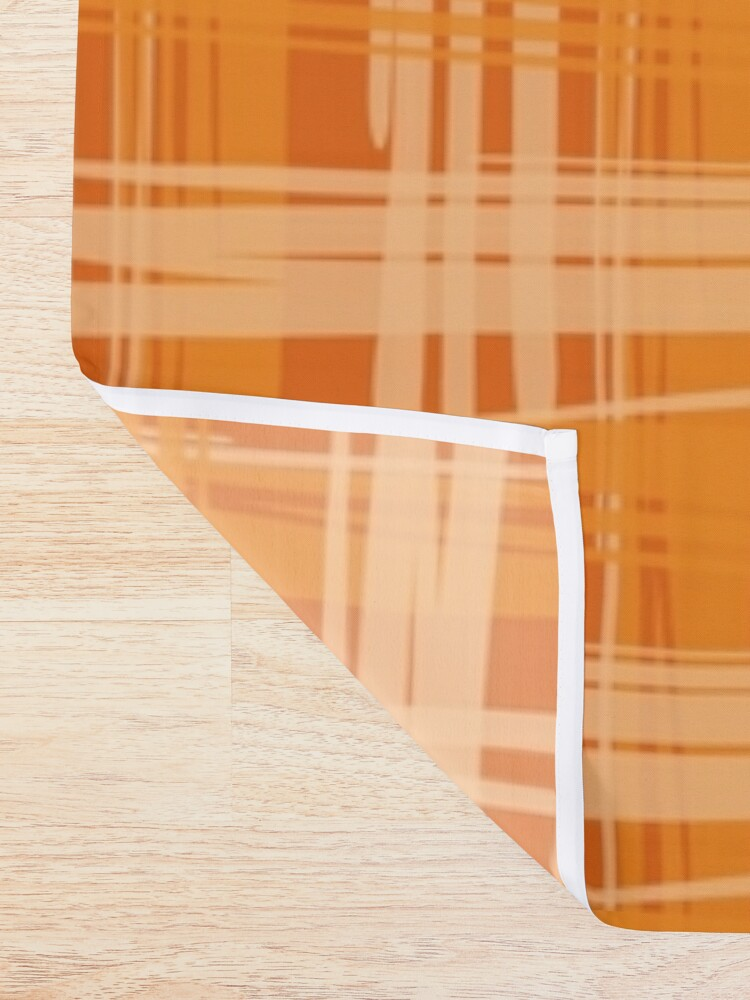 Alternate view of Fire Plaid Shower Curtain
