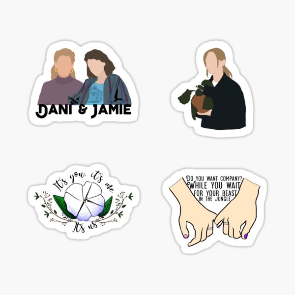 Jamie and Dani - The haunting of bly manor - Sticker pack  Sticker