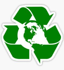 Earth Day Recycle Reuse Reduce Design Sticker