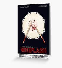 Whiplash film poster Greeting Card