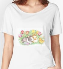 Bunnies and Chick Women's Relaxed Fit T-Shirt