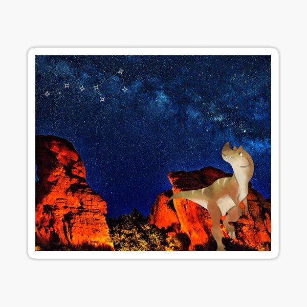 Arizona Dinosaur Star Gazer Sticker