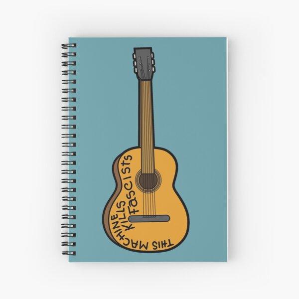 This Machine Kills Fascists (Woody Guthrie Guitar) Spiral Notebook