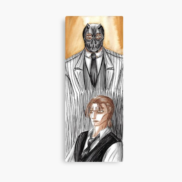 Roman becoming Black Mask Canvas Print