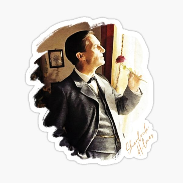 Sherlock Holmes Jeremy Brett - A Lovely Rose Sticker