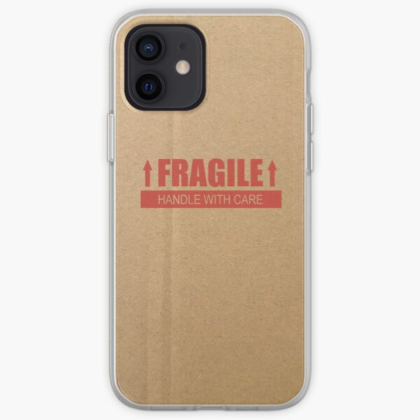 FRAGILE Handle with Care Paper Box iPhone Soft Case