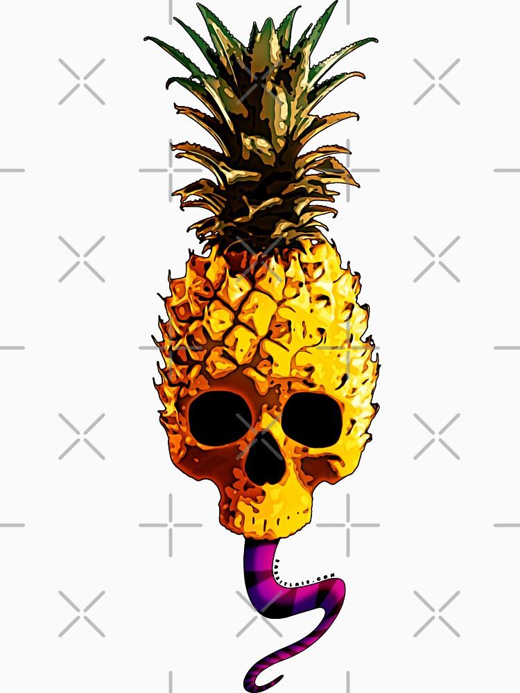 Skull Pineapple - Grunge Fruit Skull by RabbitLair