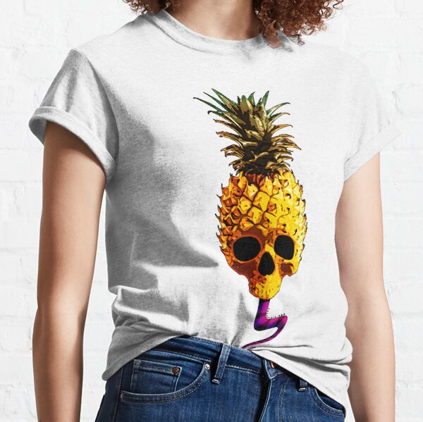 Skull Pineapple - Grunge Fruit Skull Classic T-Shirt