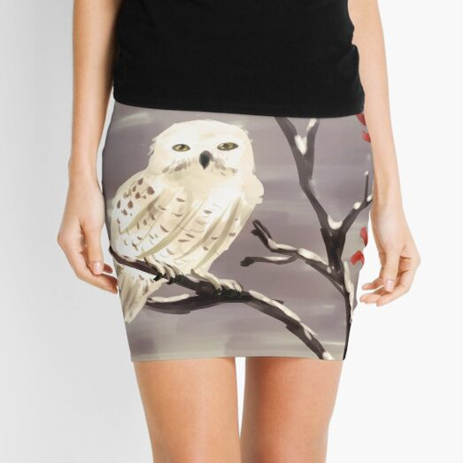 Snow Owl Mini Skirt