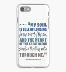 Secret of the Sea Henry Wadsworth Longfellow Quote Art iPhone Case/Skin