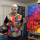 Hubby modelling one of my designs by Karin Zeller