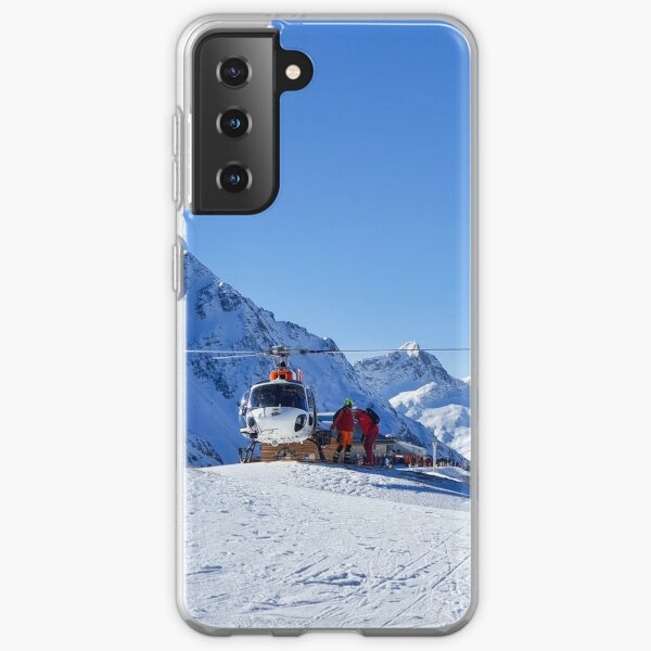 Helicopter on the ski slope, rescue Samsung Galaxy Soft Case