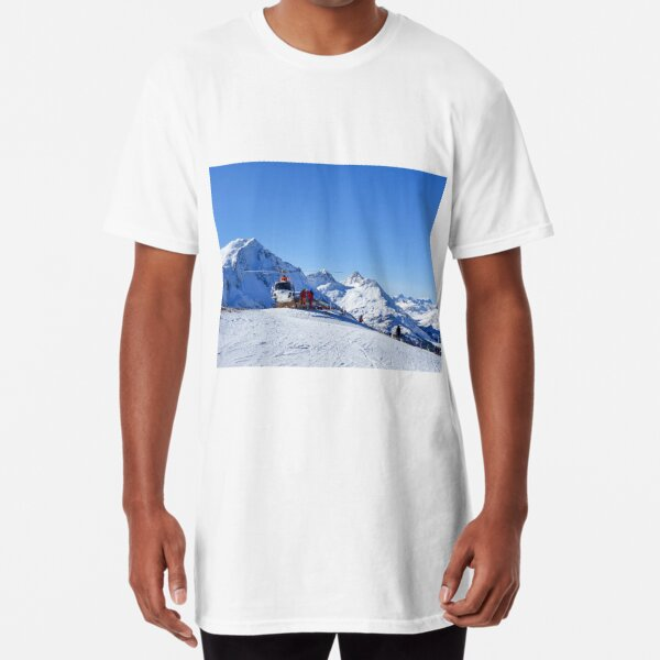 Helicopter on the ski slope, rescue Long T-Shirt