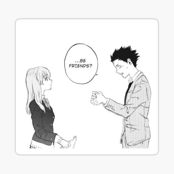 A Silent Voice   The Shape of Voice   Shouko   Shoya   Anime Movie   Sticker! Sticker