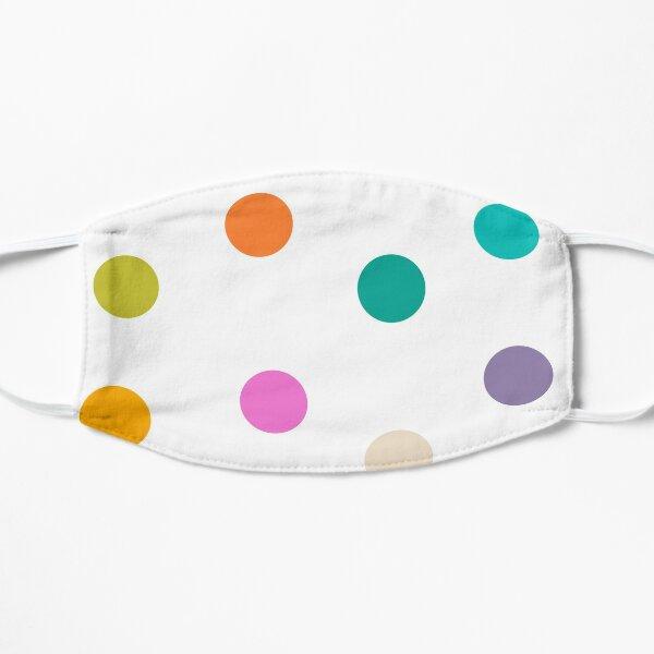 Colourful Dots Large on White Flat Mask