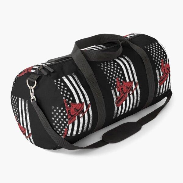 snowmobile usa flag dirty  Duffle Bag