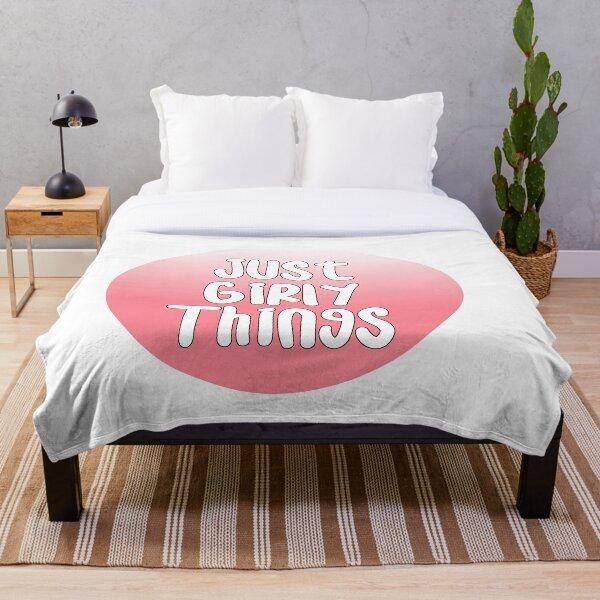 Girly Things Throw Blanket