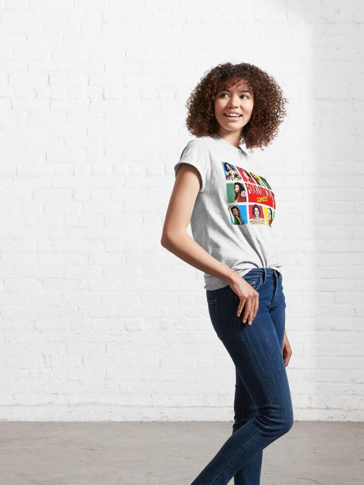 Vista alternativa de Camiseta clásica Folkloricas ·Reinas de la copla Vintage Comics