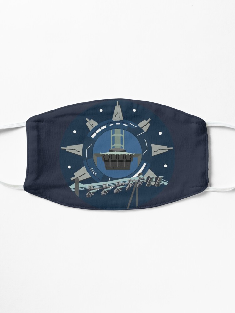 Alternate view of Galactic Space Rollercoaster Design Mask