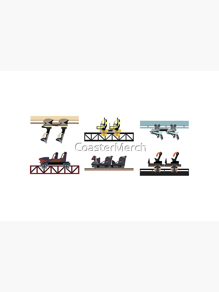 Alton Towers Coaster Cars Design by CoasterMerch