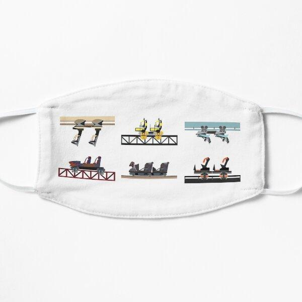 Alton Towers Coaster Cars Design Flat Mask