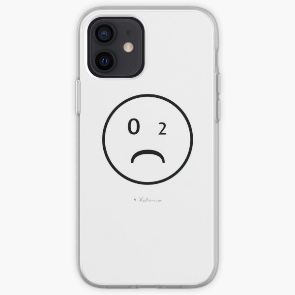 CO2- Smiley black, Xelen.net iPhone Flexible Hülle