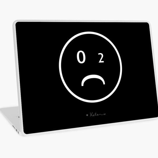 CO2-Smiley white, Helen Berchtold Laptop Folie