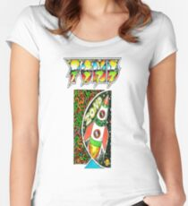 Pond Print 'Zond' Women's Fitted Scoop T-Shirt