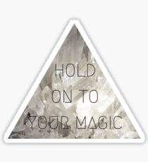 Hold on to your magic princess witch spell hex anime kawaii crystal print Sticker
