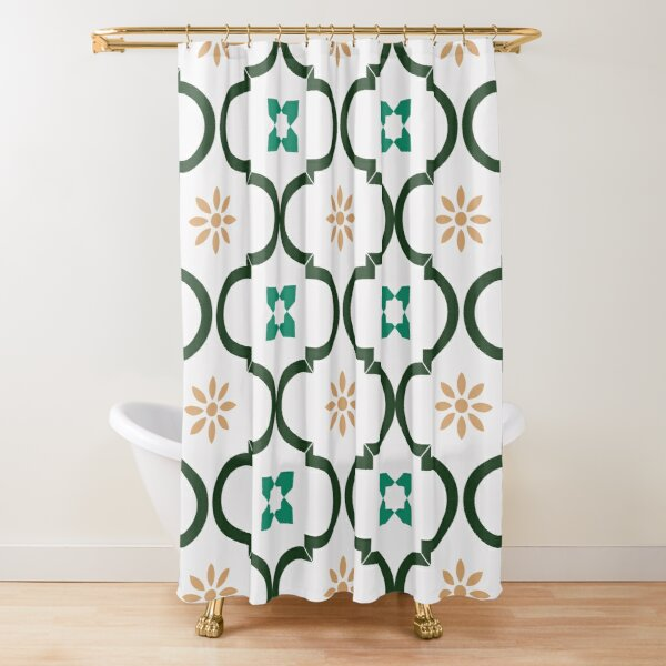 Moroccan Mosaic pattern Shower Curtain
