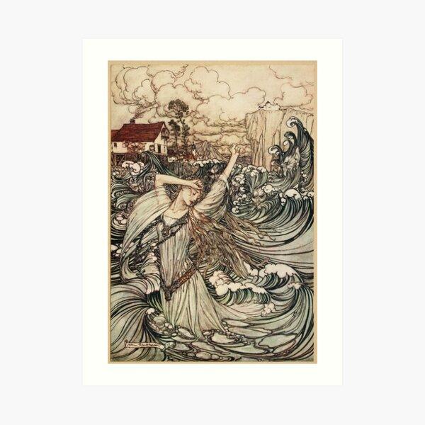 Arthur Rackham  - Undine Art Print