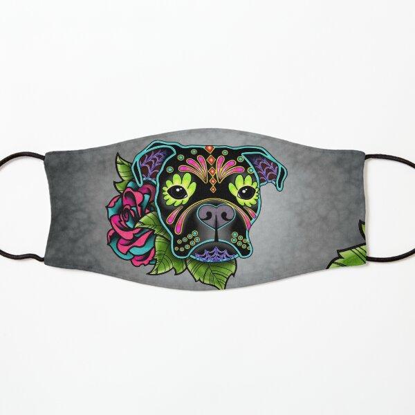 Boxer in Black- Day of the Dead Sugar Skull Dog Kids Mask