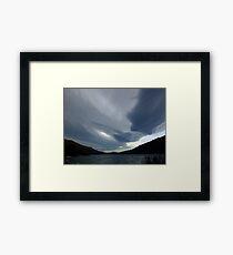 New Zealand lenticular clouds Framed Print
