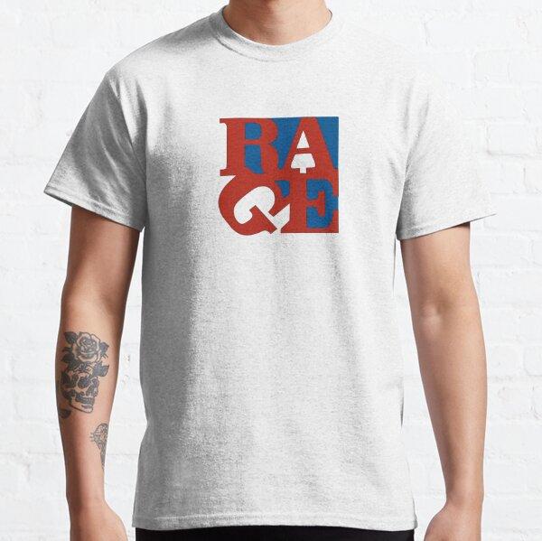 Camiseta tipográfica divertida cita de Rage que dice diseño Camiseta clásica