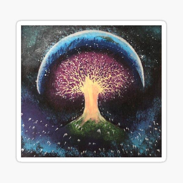 Cosmic Tree of Life Painting Sticker