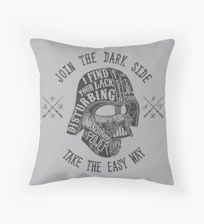 The easy way. Throw Pillow