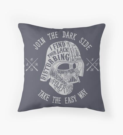 The easy way. (Alternate) Throw Pillow